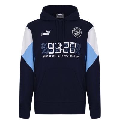 Hanorac Puma Manchester City FC Cult pentru Barbati alb albastru