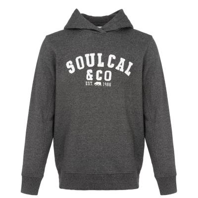 Hanorac SoulCal Logo OTH pentru Barbati inchis gri carbune m