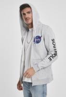 Hanorac Southpole NASA Insignia Logo cu fermoar deschis-gri