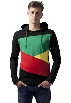 Hanorace barbati jersey negru-rasta Urban Classics