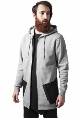 Hanorace barbati cu fermoar tech gri-negru Urban Classics