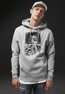 Hanorace hip hop barbati Wiz Khalifa Half Face gri deschis Mister Tee