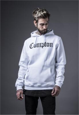 Hanorace rap cu gluga Compton alb Mister Tee
