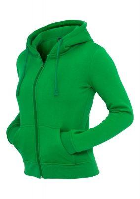 Hanorac cu fermoar pentru Femei Urban Classics verde