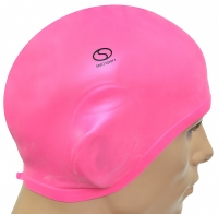 Casca de inot colorata cu protectie urechi . roz Smj