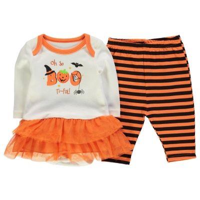 Heatons Halloween Tutu Set pentru fete pentru Bebelusi portocaliu