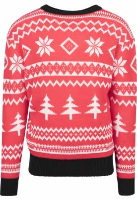 Pulovere Craciun Holidays rosu-alb Urban Classics negru