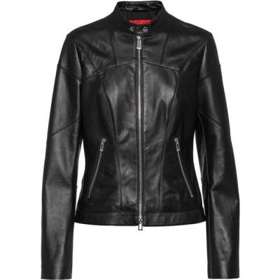 Jacheta Hugo Libra din piele negru