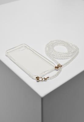 Husa telefon Colier cu Pearl I Phone 678 transparent Urban Classics