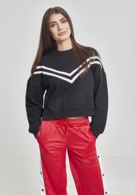 Bluza maneca lunga cu dungi pentru Femei negru Urban Classics