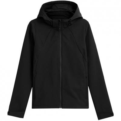 Jacheta 4F Softshell negru intens H4Z21 SFD002 20S pentru femei