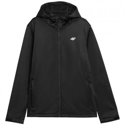 Jacheta 4F Softshell negru intens NOSH4 SFM350 20S pentru Barbati
