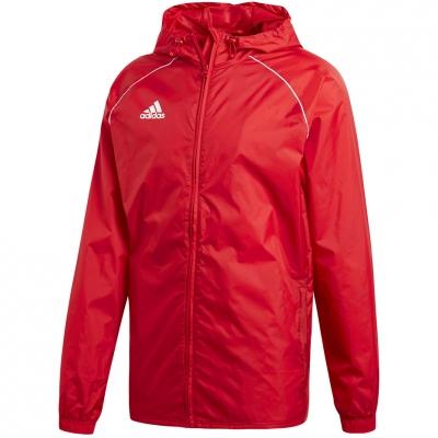 Jacheta adidas Core 18 ploaie rosu CV3695 barbati