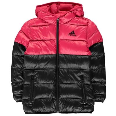 Jacheta adidas cu captuseala pentru fetite negru roz