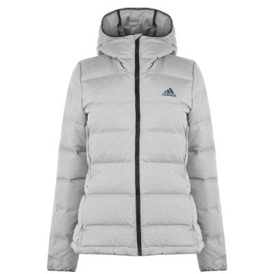 Jacheta adidas Helionic pentru femei gri deschis