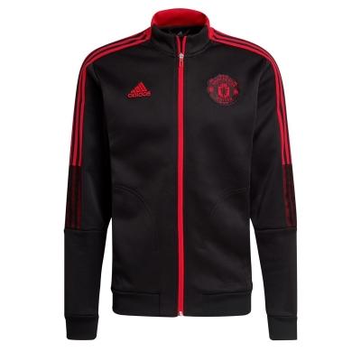Jacheta adidas Manchester United Anthem 2021 2022 pentru Barbati negru rosu