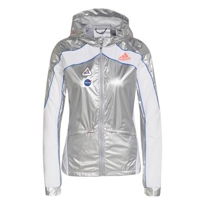 Jacheta adidas Marathon Space Race alergare pentru Femei matte argintiu