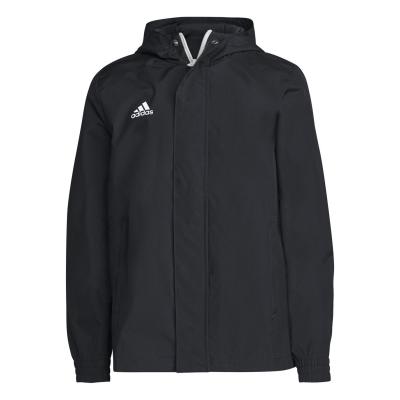 Jacheta adidas ploaie negru alb