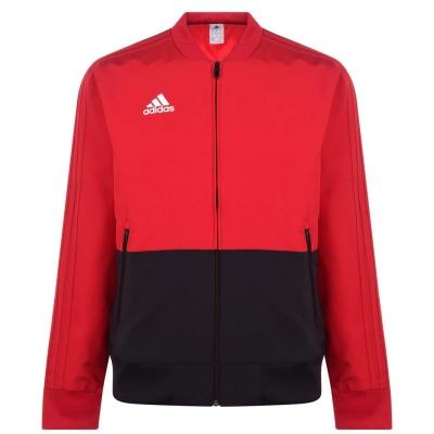 Jacheta adidas Pre Match pentru Barbati rosu negru