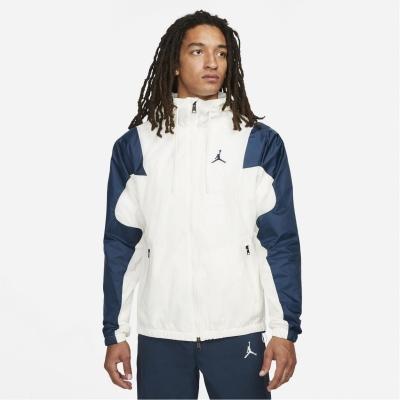 Jacheta Air Jordan Woven pentru Barbati alb bleumarin