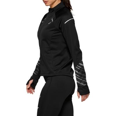 Jacheta Asics cu Maneca Lunga iarna pentru Femei negru
