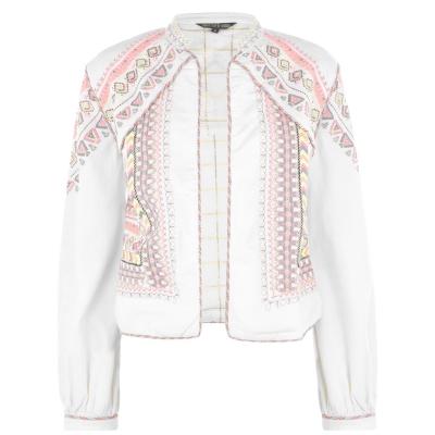 Jacheta Biba Biba Neon Embroidered alb