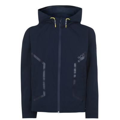 Jacheta BOSS cu gluga Wb ploaie pentru baietei bleumarin