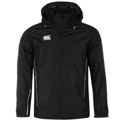 Jacheta Canterbury cu fermoar Rain pentru Barbati negru alb