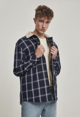 Jacheta captusita Shirt bleumarin-alb Urban Classics