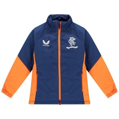 Jacheta Castore Rangers Bench 2021 2022 pentru copii bleumarin portocaliu