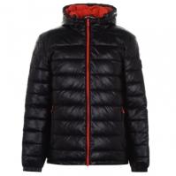 Jacheta Cole Haan PU pentru Barbati negru portocaliu