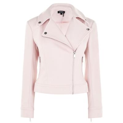Jacheta cu Fermoar DKNY DKNY cu Maneca Lunga cu buzunar iconic roz