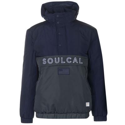 Jacheta cu Fermoar SoulCal Quarter bleumarin gri