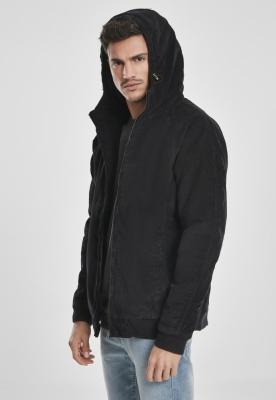 Jacheta cu gluga Corduroy negru-negru Urban Classics