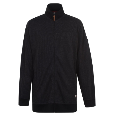 Jacheta D555 Button cu fermoar pentru Barbati negru