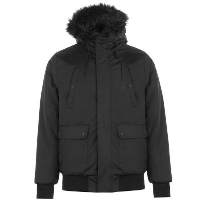 Jacheta Fabric Plain Bomber negru
