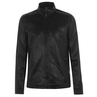 Jacheta Fabric PU pentru Barbati negru