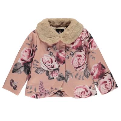 Jacheta Firetrap Linea Wrap pentru fete pentru Bebelusi roz floral