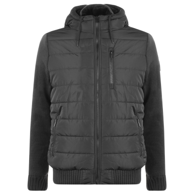Jacheta Firetrap Sartorial tricot pentru Barbati inchis gri carbune