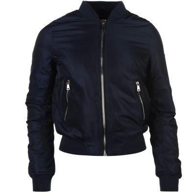 Jacheta Golddigga MA1 Bomber pentru Femei bleumarin albastru