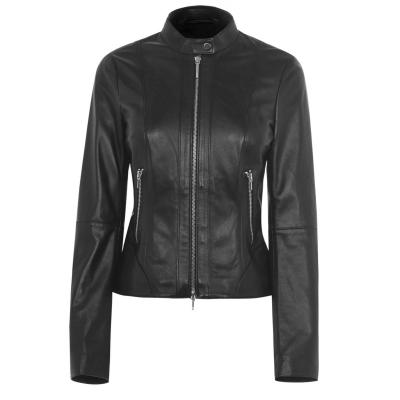 Jacheta Hugo Lonia din piele negru