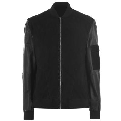 Jacheta HUGO Lunis din piele Bomber negru
