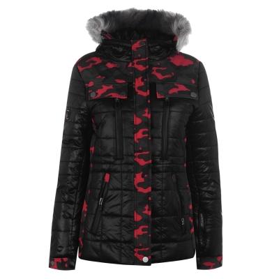 Jacheta IFlow Camo Glacier pentru femei rosu camuflaj