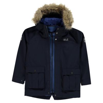 Jacheta Jack Wolfskin Elk Island pentru baietei bleumarin albastru