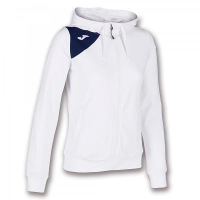 Jacheta Joma cu gluga Spike II alb-bleumarin inchis pentru Femei