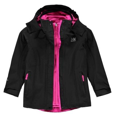 Jacheta Karrimor 3 in 1 pentru copii negru roz