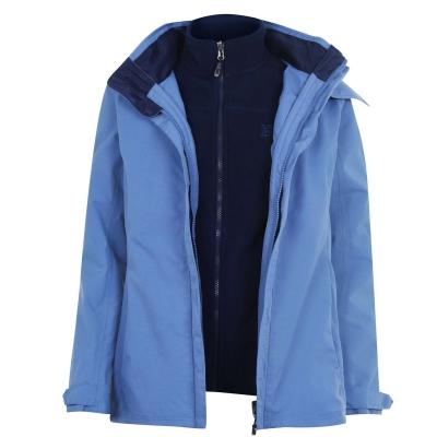 Jacheta Karrimor 3 in 1 Weathertite pentru Femei pale albastru