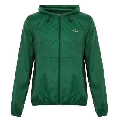 Jacheta Lacoste Lightweight ploaie verde