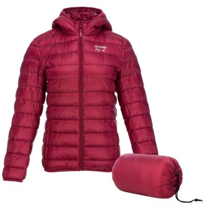 Jacheta Lee Cooper Micro cu gluga pentru Femei rosu burgundy