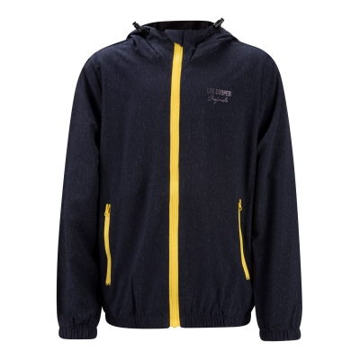 Jacheta Lee Cooper Print cu gluga pentru copii bleumarin